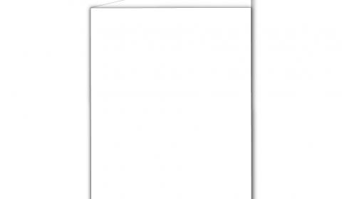 A6 Portrait White Plain Card Blanks