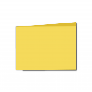 A6 Landscape Daffodil Yellow Card Blanks