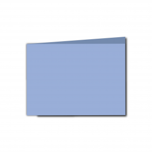 A6 Landscape Marine Blue Card Blanks