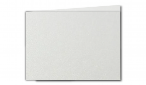 A6 Landscape Natural White Pearlised Card Blanks