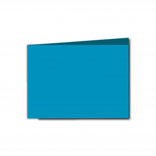 A6 Landscape Ocean Blue Card Blanks