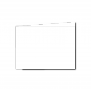 A6 Landscape White Plain Card Blanks