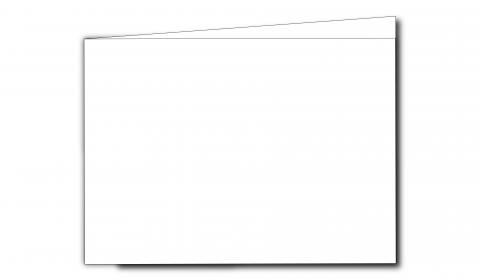 A6 Landscape White Plain Card Blanks