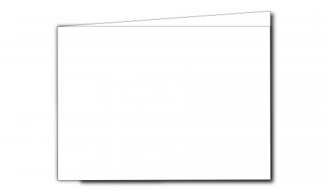 A6 Landscape White Linen Card Blanks