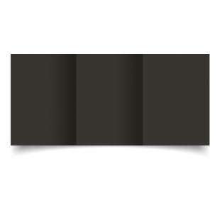 A6 Trifold Black Card Blanks