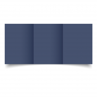 A6 Trifold Blu Sirio Colour Card Blanks