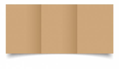 A6 Trifold Fleck Kraft Card Blanks