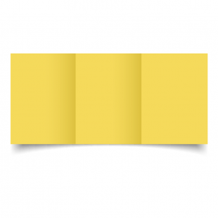 A6 Trifold Daffodil Yellow Card Blanks