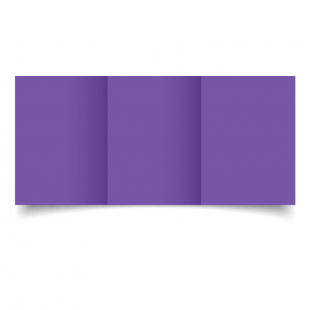 A6 Trifold Dark Violet Card Blanks