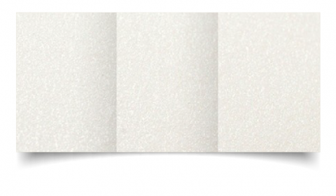 A6 Trifold Natural White Pearlised Card Blanks