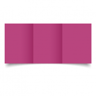 A6 Trifold Raspberry Pink Card Blanks