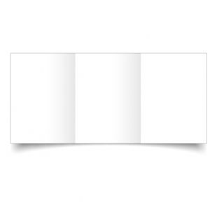 A6 Trifold White Plain Card Blanks