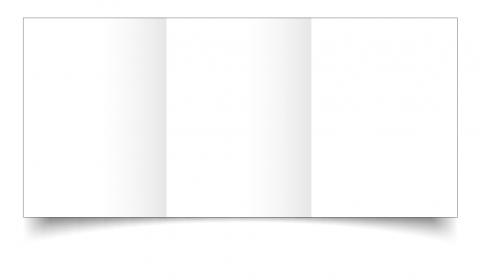 A6 Trifold White Plain Card Blanks