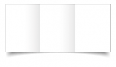 A6 Trifold White Hammered Card Blanks