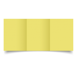 Giallo Woodstock Card Blanks Double sided 285gsm-A6-Trifold