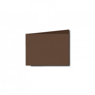 A7 Landscape Mocha Brown Card Blanks