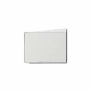 A7 Landscape Natural White Pearlised Card Blanks
