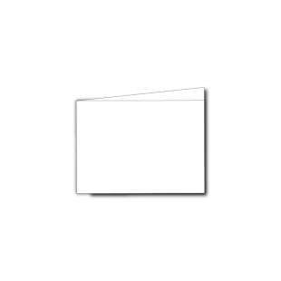 A7 Landscape White Plain Card Blanks