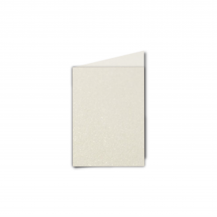 A7 Portrait Ivory Pearlised Card Blanks