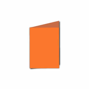 A7 Portrait Mandarin Orange Card Blanks