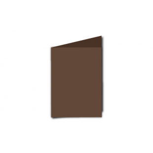 A7 Portrait Mocha Brown Card Blanks