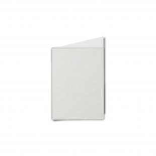 A7 Portrait Natural White Pearlised Card Blanks
