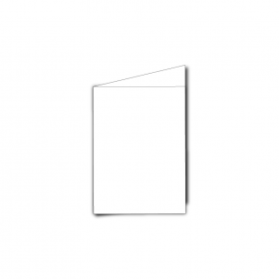 A7 Portrait White Plain Card Blanks