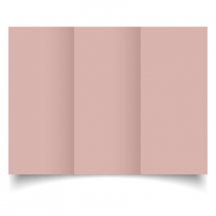 DL Trifold Baby Pink Card Blanks