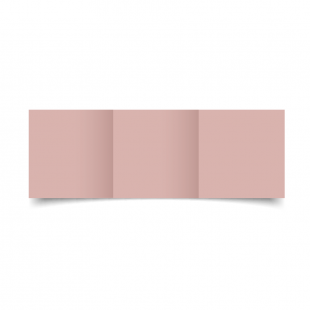 Small Square Trifold Baby Pink Card Blanks