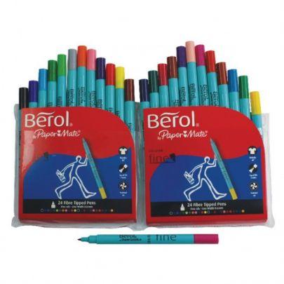 Berol 24 Fine Fibre Tipped Pens