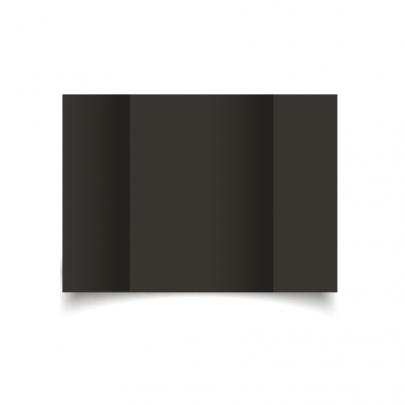 Black A5 Gate Fold Card Blank 01
