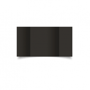 Large Square Gatefold Black Card Blanks
