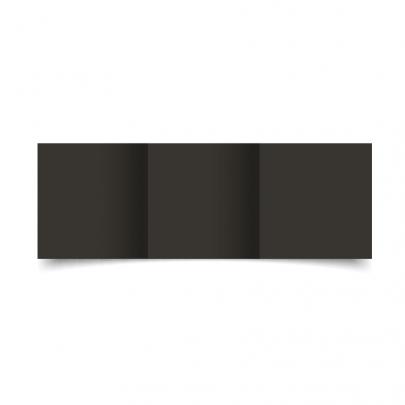 Black Small Square Tri Fold Card Blank 01