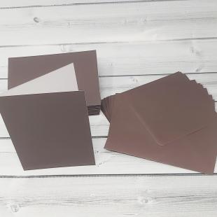 Bon Bon Brown C6 Card Blanks & Envelopes - Pack of 10