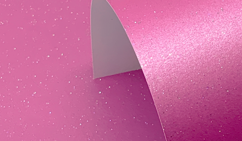 Fuchsia Pink Pure Pearl Sparkle Card Single Sided 300gsm
