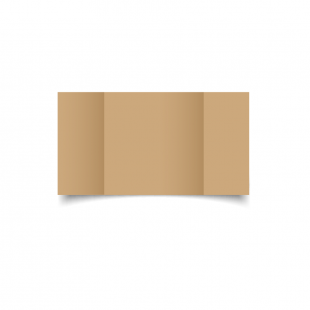 Large Square Gatefold Buff Card Blanks