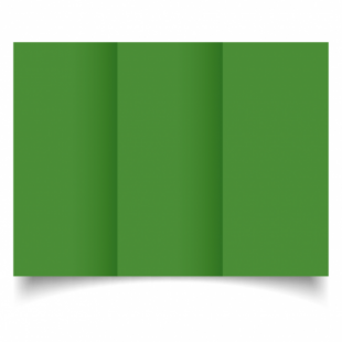 Apple Green Card Blanks Double Sided 240gsm-DL-Trifold