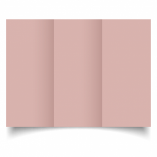 Baby Pink Card Blanks Double Sided 240gsm-DL-Trifold
