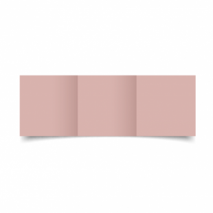 Baby Pink Card Blanks Double Sided 240gsm-Small Square-Trifold