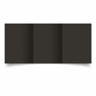 Black Card Blanks Double Sided 240gsm-A6-Trifold
