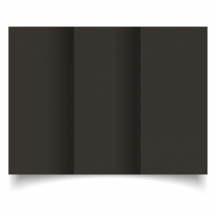 Black Card Blanks Double Sided 240gsm-DL-Trifold