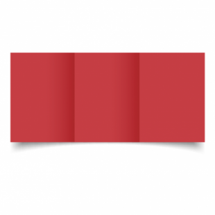 Christmas Red Card Blanks Double Sided 240gsm-A6-Trifold