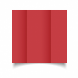 Christmas Red Card Blanks Double Sided 240gsm-DL-Gatefold