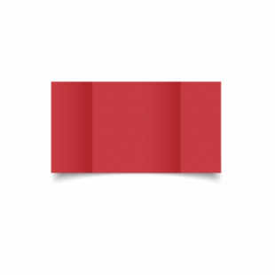 Christmas Red Card Blanks Double Sided 240gsm-Large Square-Gatefold