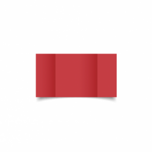 Christmas Red Card Blanks Double Sided 240gsm-Small Square-Gatefold