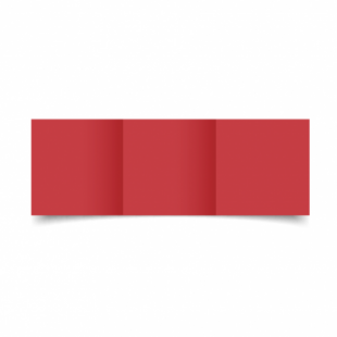 Christmas Red Card Blanks Double Sided 240gsm-Small Square-Trifold