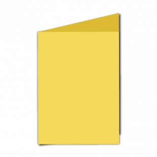 "Daffodil Yellow Card Blanks Double Sided 240gsm-5""x7""-Portrait"