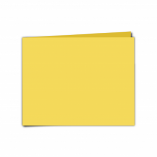 "Daffodil Yellow Card Blanks Double Sided 240gsm-5""x7""-Landscape"