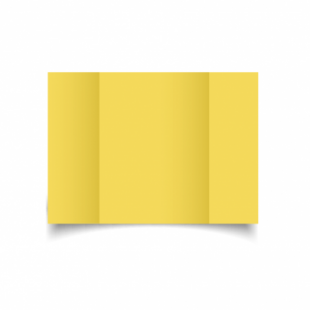 Daffodil Yellow Card Blanks Double Sided 240gsm-A5-Gatefold