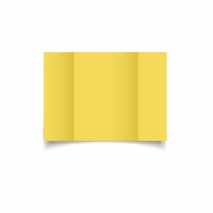 Daffodil Yellow Card Blanks Double Sided 240gsm-A6-Gatefold